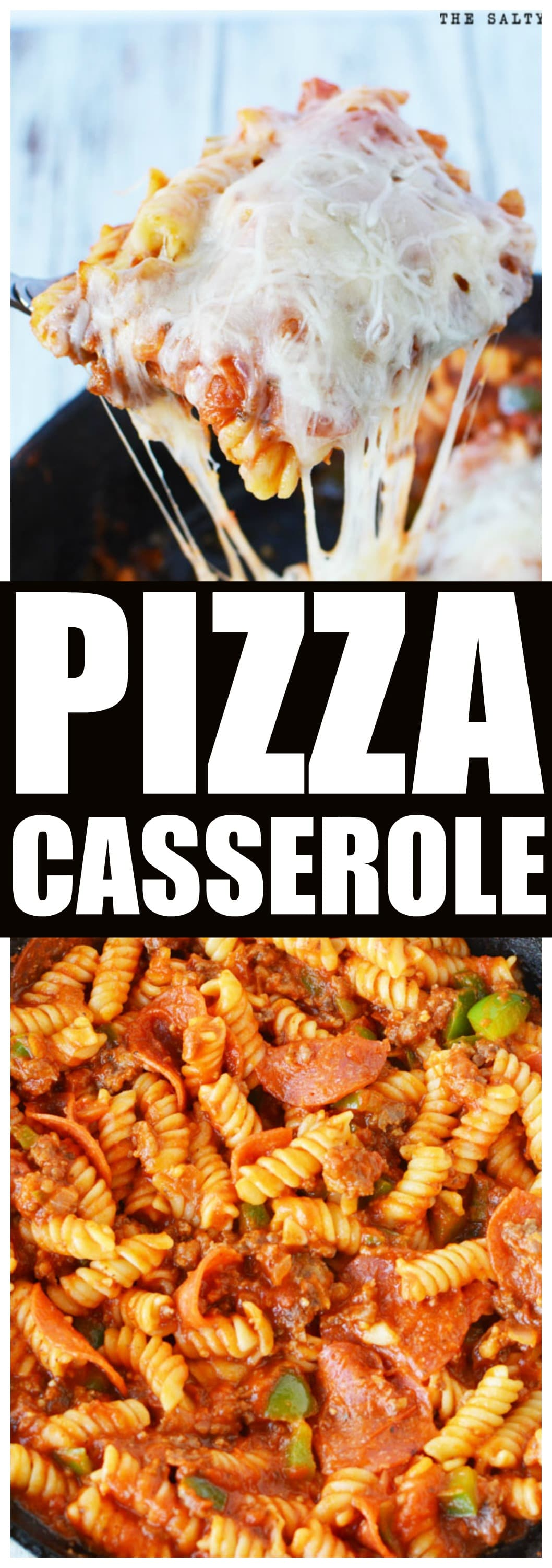Pizza Casserole Hot Dish is an incredible pizza flavor that is FAST and EASY for any day of the week. KID FAVORITE! #recipes #pizza #pasta #maindish #homemade