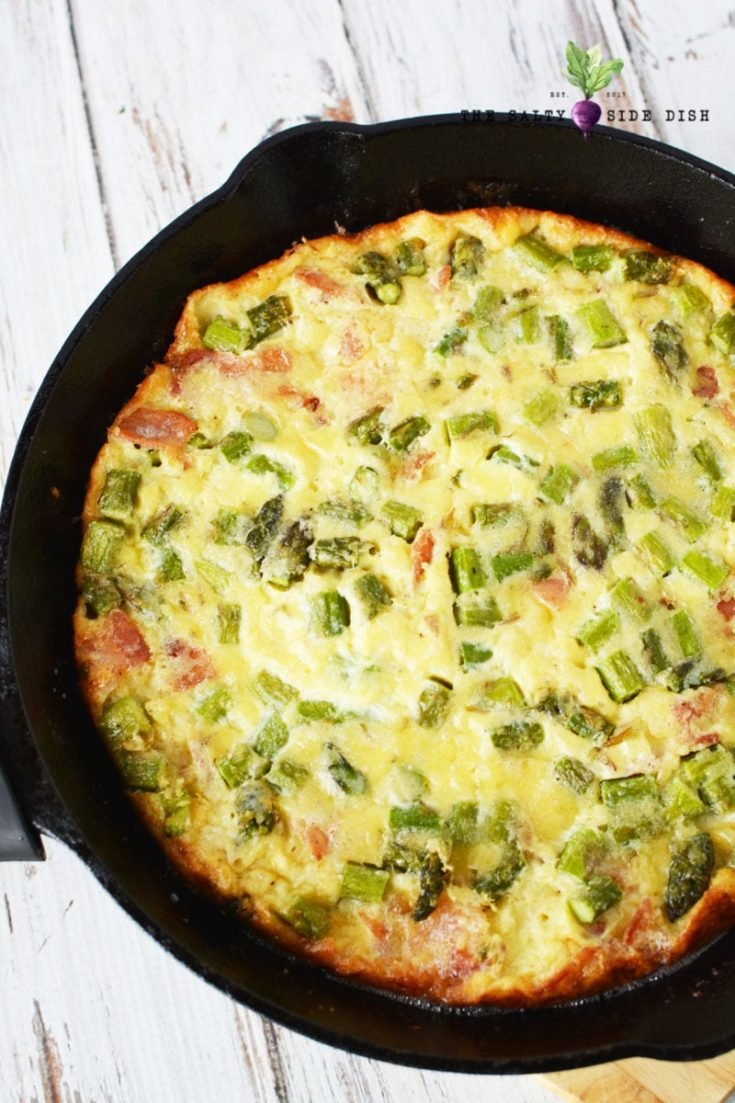 Asparagus Quiche with Bacon and Cheese