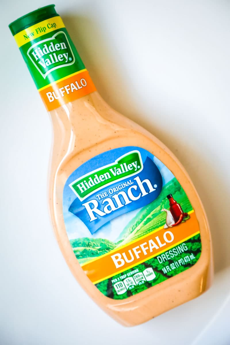 buffalo dressing by hidden valley ranch is a great option for premade buffalo sauce