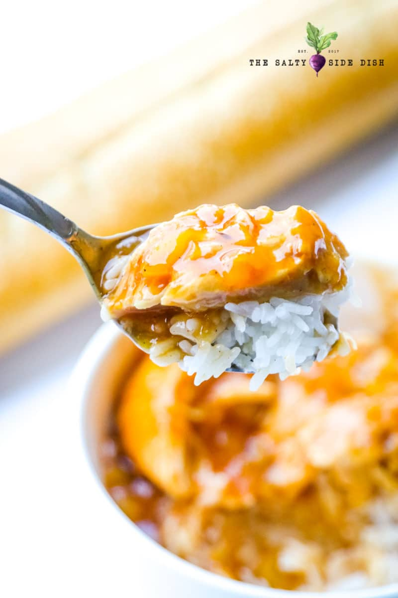 rice makes a great filler for bbq chicken from the crock pot