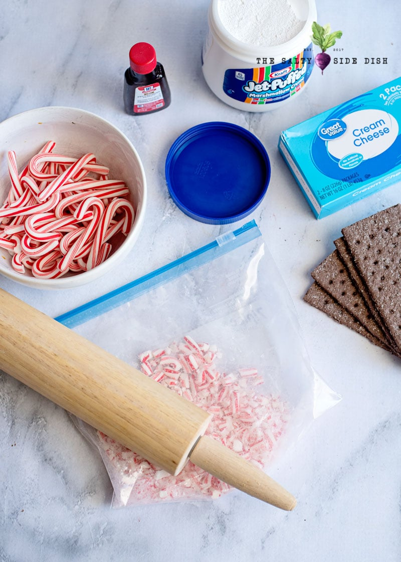 crush your candy canes with a rolling pin
