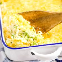 Cauliflower Casserole with Cheese