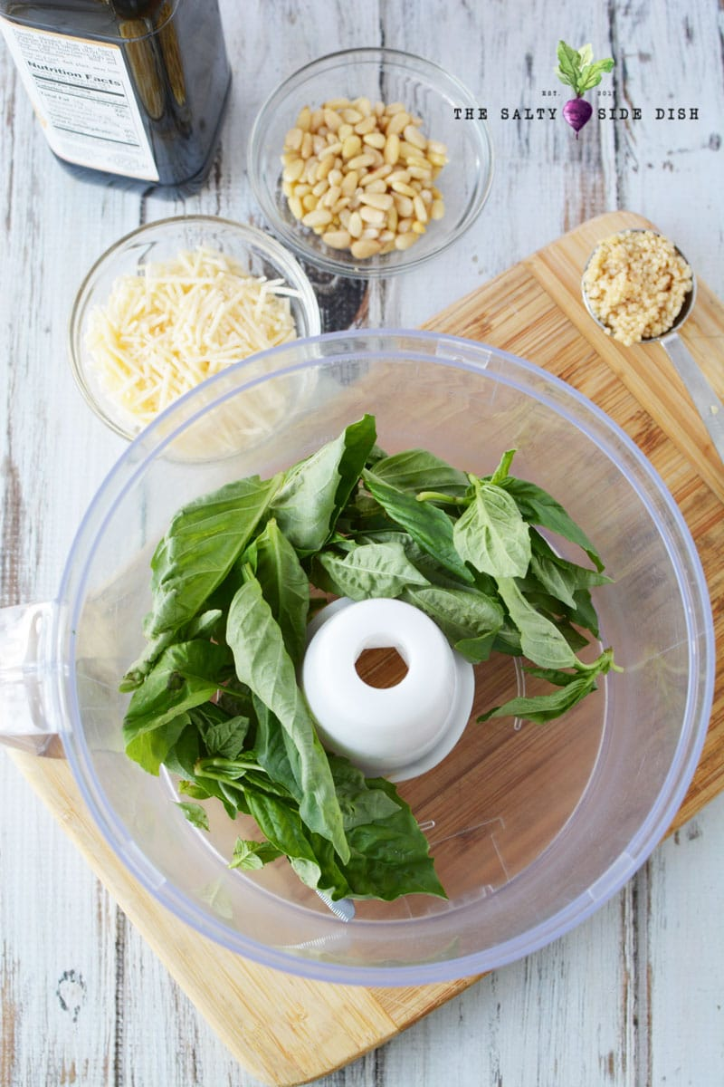 fresh basil leaves so easy to make with your pesto sauce dont use dried