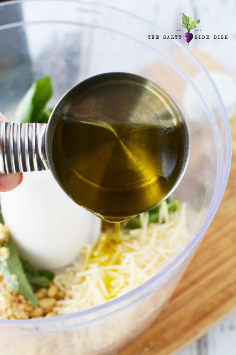 add oil to your pesto to smooth recipe