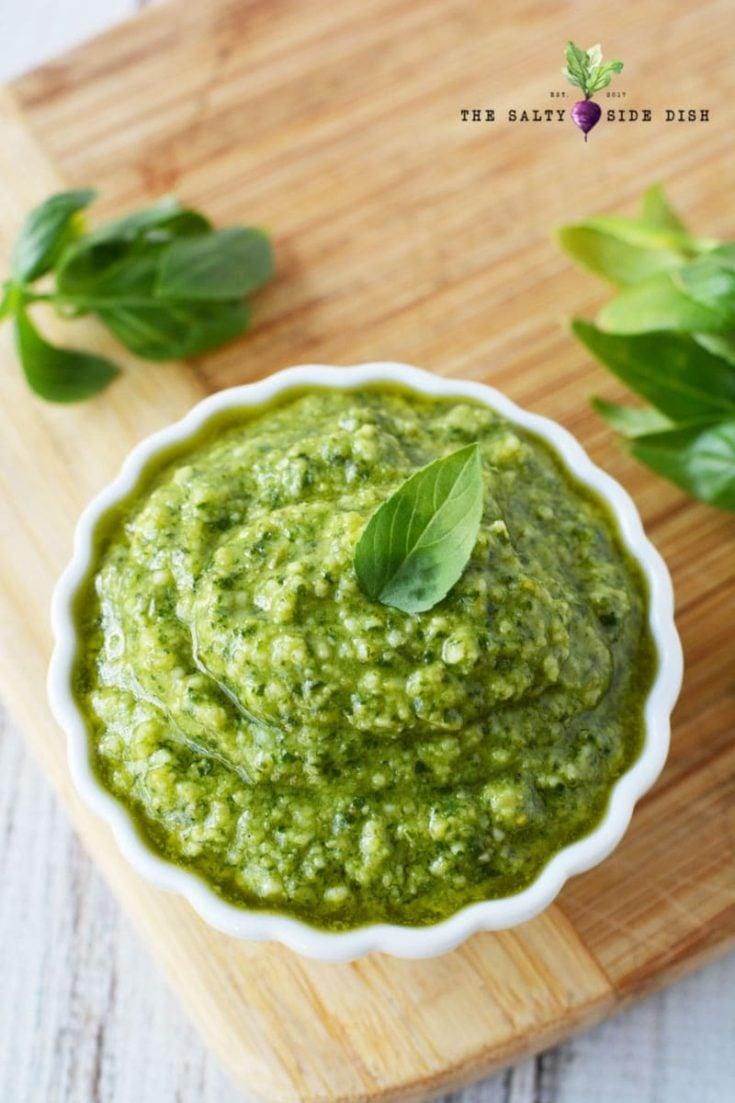 Fresh Basil Pesto Sauce for Pasta