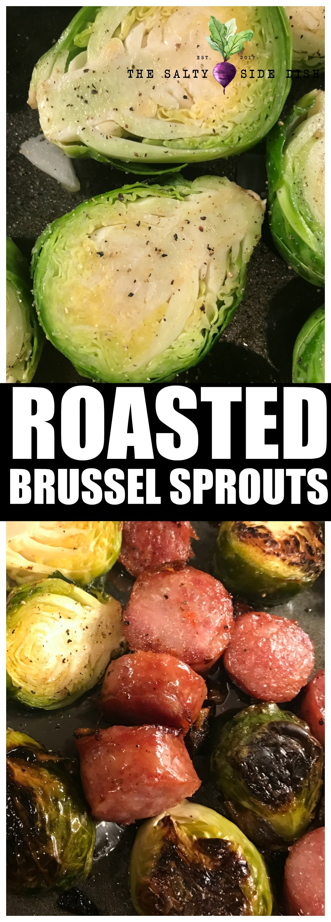 Roasted Brussel Sprouts Recipe with simple and easy garlic and salt right in oven #sidedish #brusselssprouts #brusselsprouts #vegetables #veggies