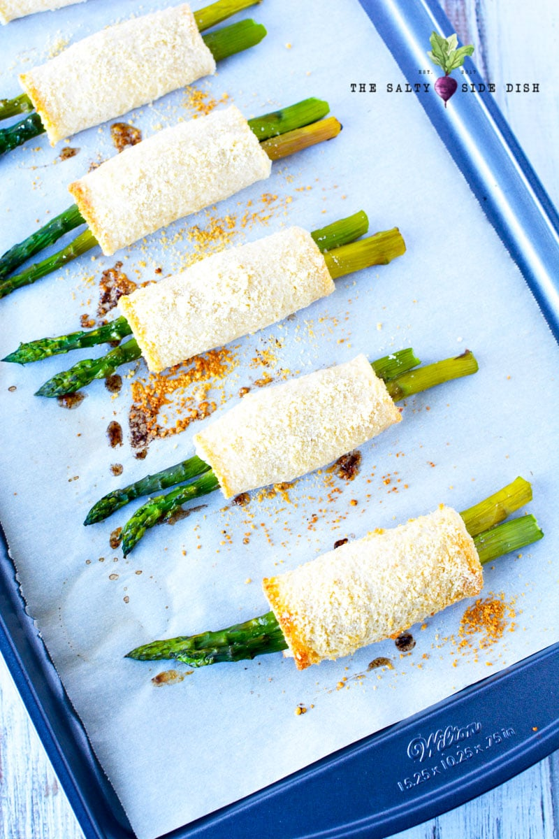 asparagus appetizers ready to serve