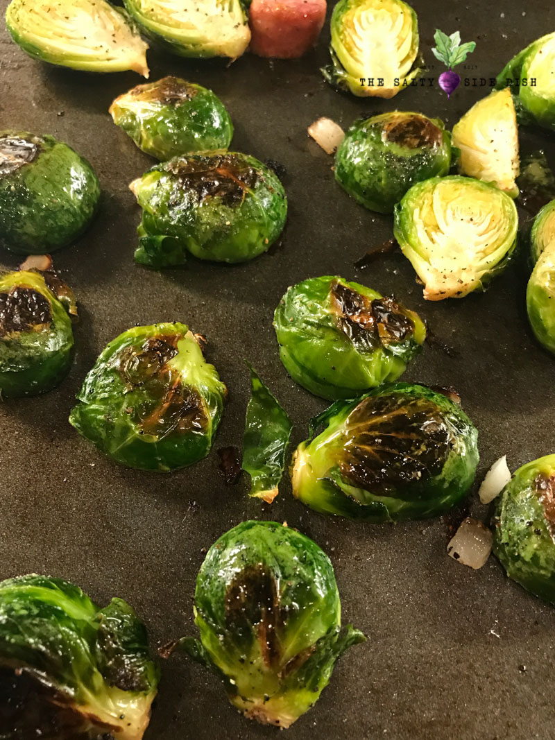 oven roast both sides of your brussel sprouts