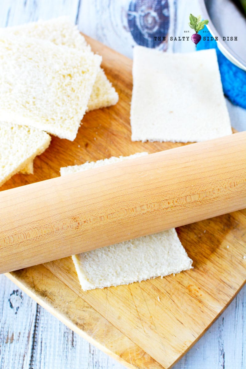 roll out your bread with a rolling pin
