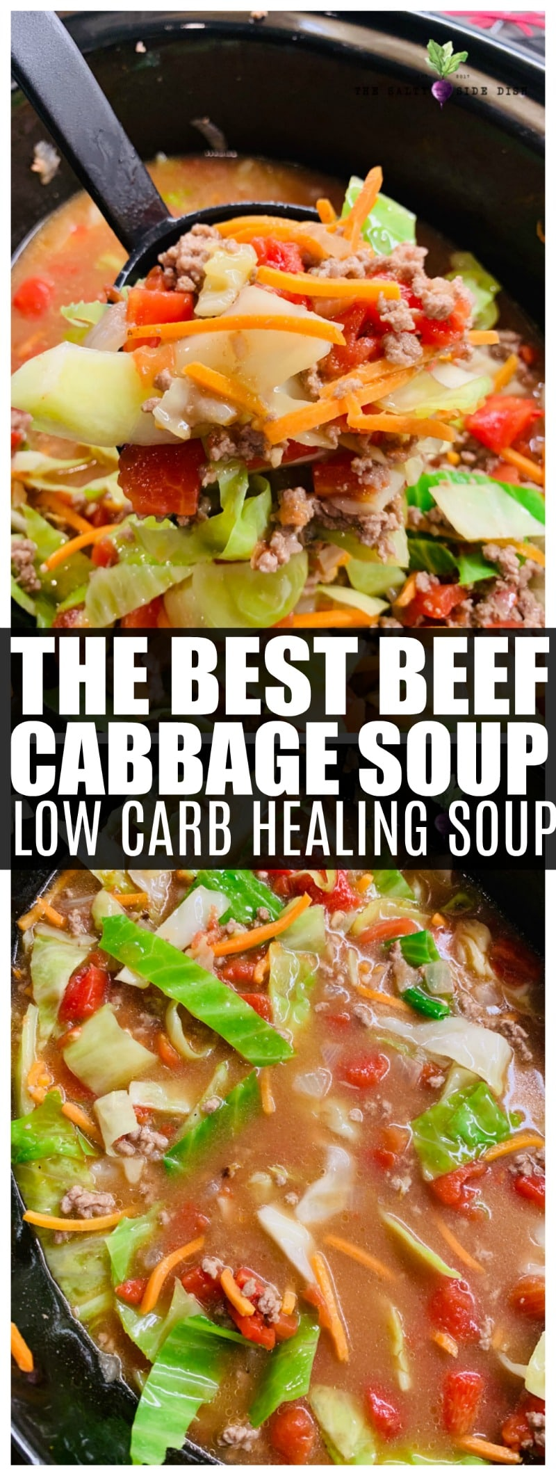 Beef Cabbage Soup | Hearty Delicious Vegetable Soup with Beef and Uniquely Mexican Flavored #cabbagesoup #soup #mexicansoup #saltysidedish #sidedish