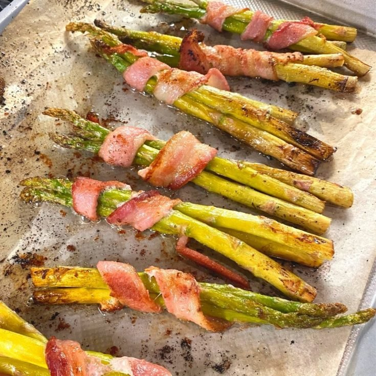 Bacon Wrapped Asparagus Oven Baked