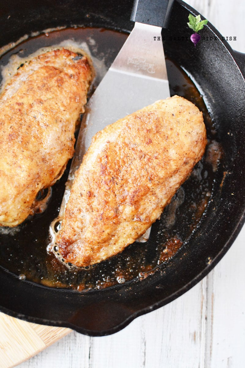 crispy garlic chicken before glaze