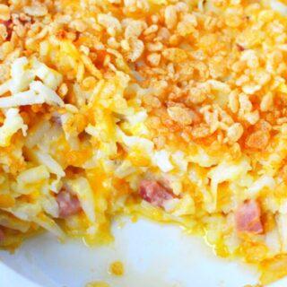 scoop out of ham potato casserole
