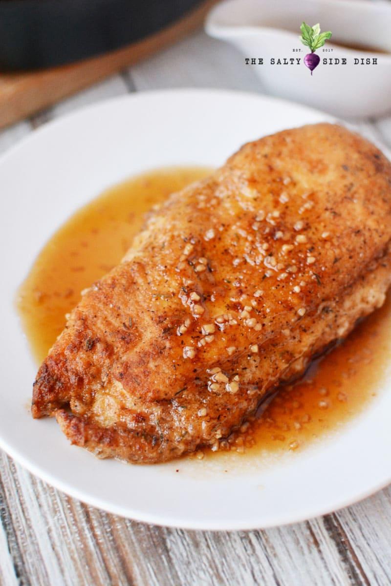 Honey Garlic chicken breasts with easy 3 ingredient honey garlic chicken sauce