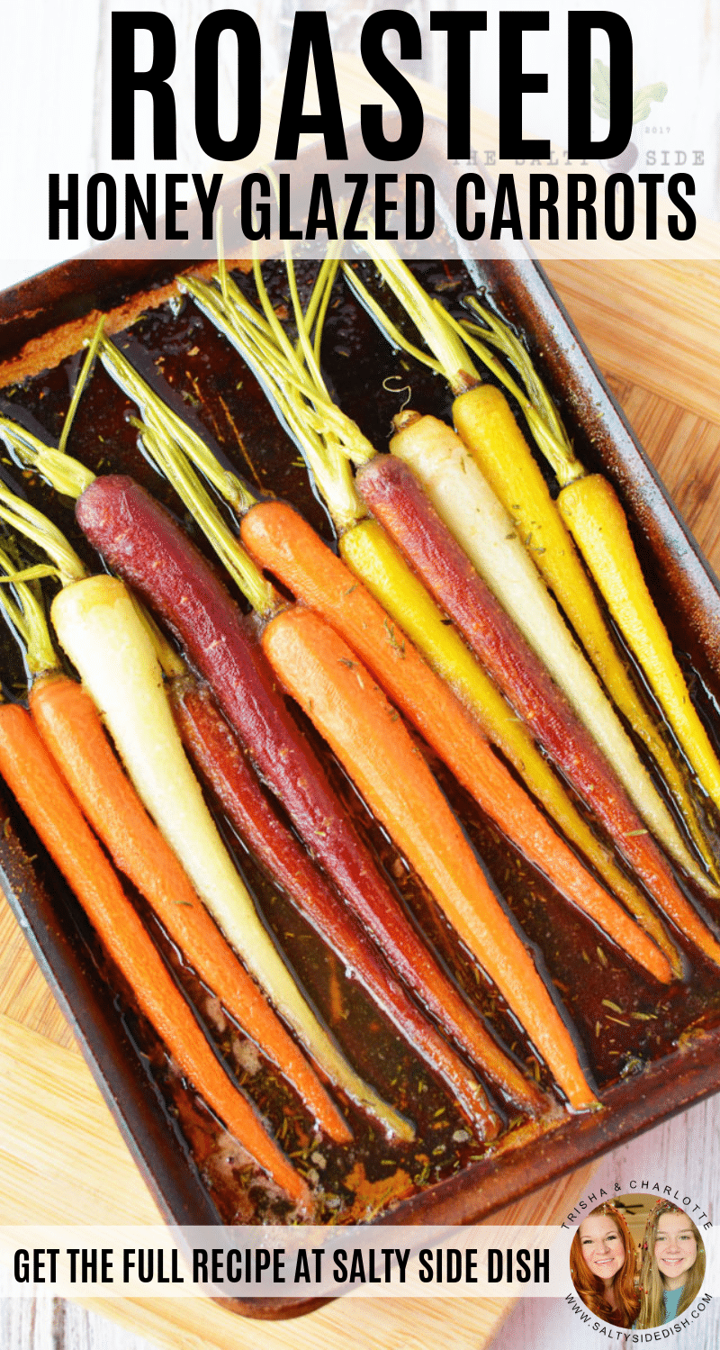 Honey glazed Carrot Recipe, showcase your roasted carrots in a stunning display with a perfectly seasoned honey glaze recipe #carrots #sidedish #foodblogger #dinner #holidaycooking #vegetables #vegetarian