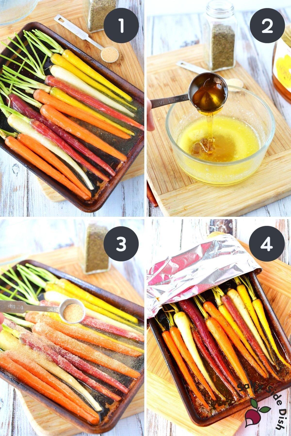 How to roast Rainbow Carrots.