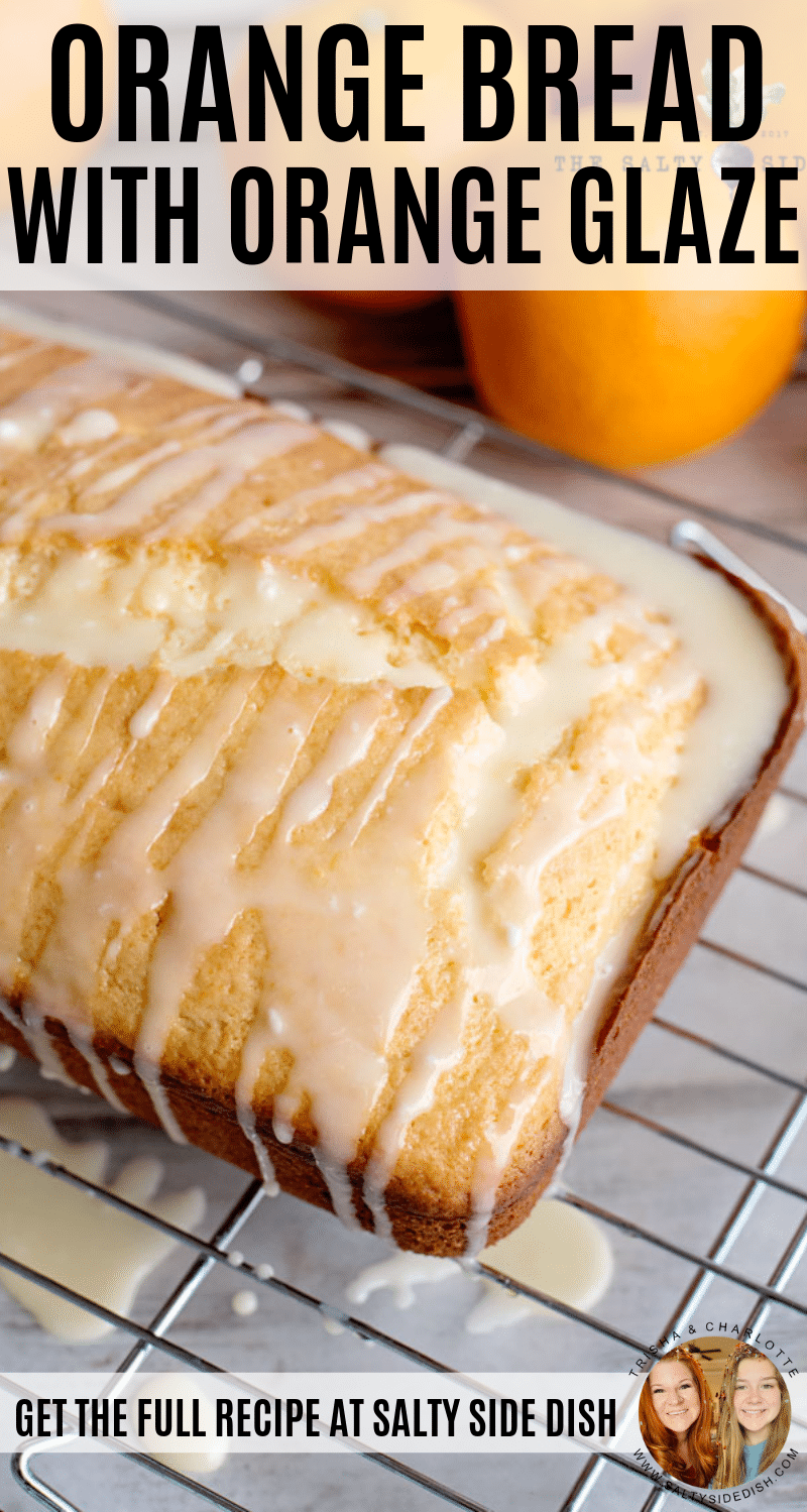 Orange Bread with Orange Glaze | Easy Homemade Bread Recipe for Breakfast or Dessert #bread #breadrecipes #breakfast #breakfastrecipes #orange #glaze