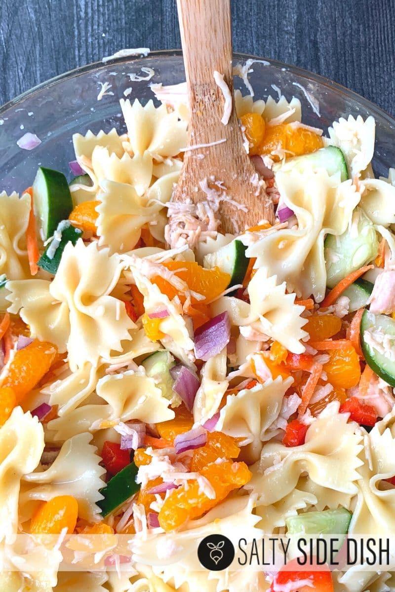 asian Mandarin Salad with Chicken & Pasta