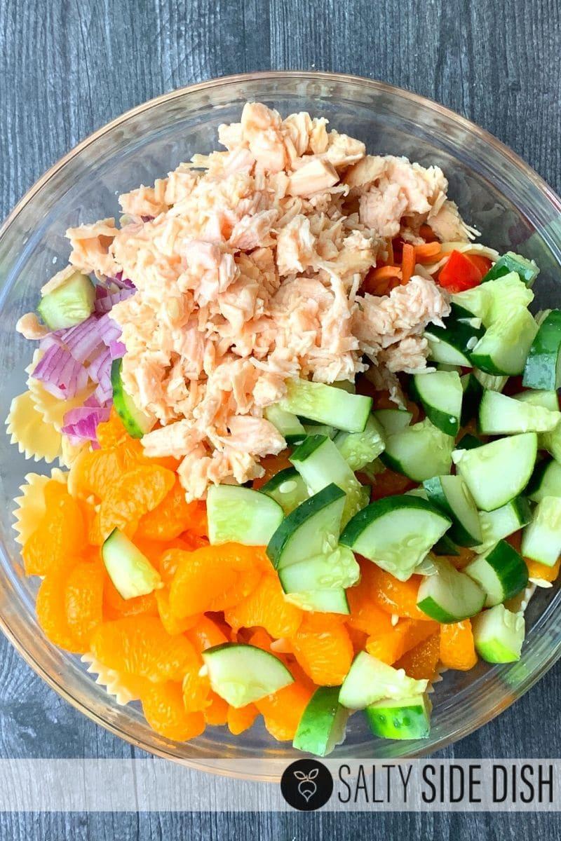 canned chicken Mandarin Salad with Chicken & Pasta