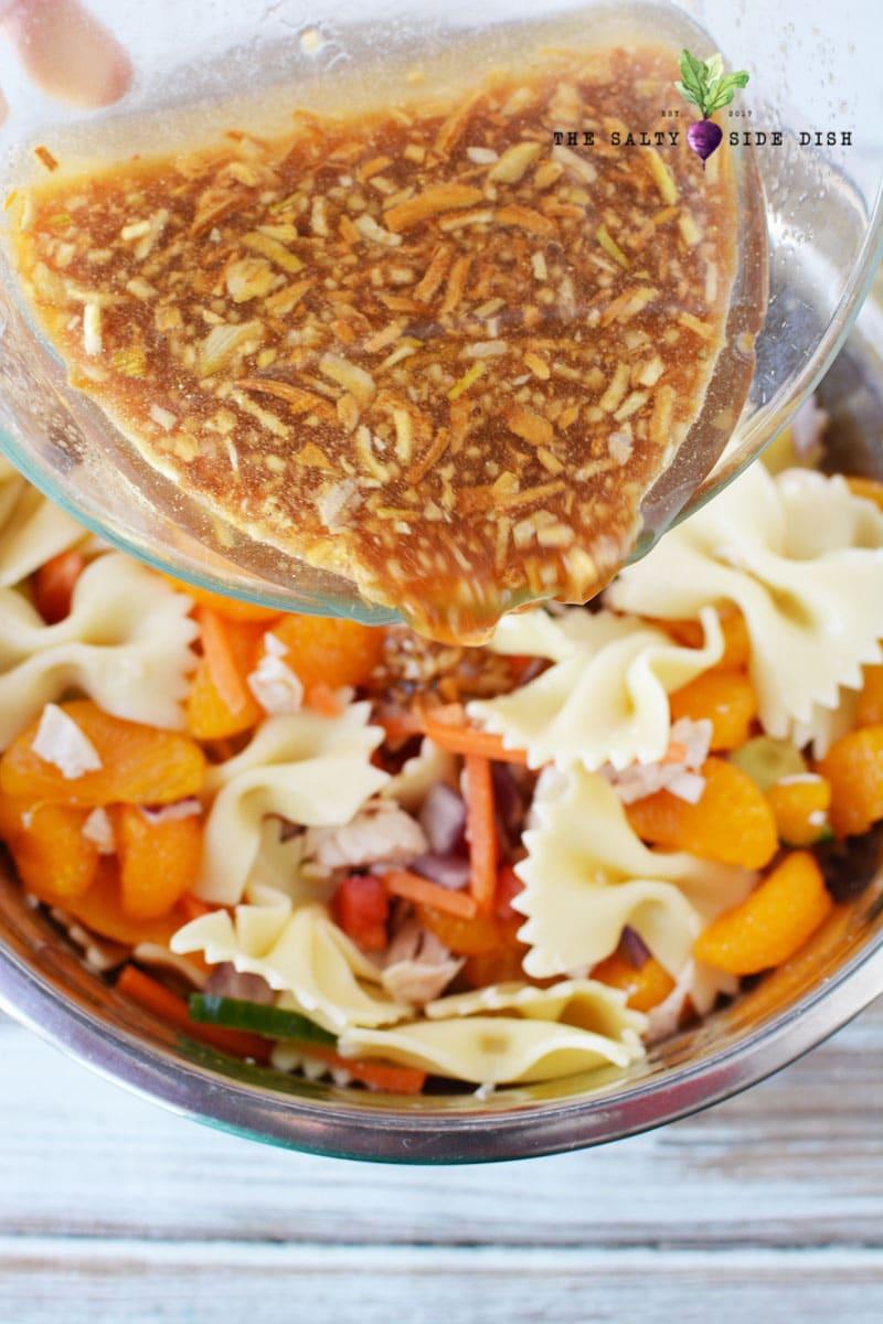 creamy crunchy mandarin salad