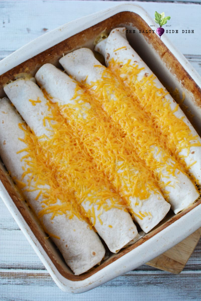 sour cream and chicken enchiladas