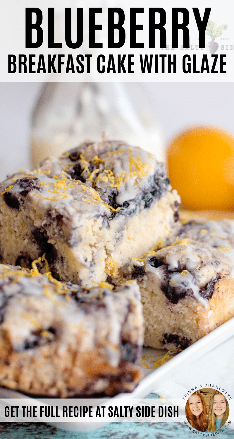 Blueberry Breakfast Cake with Glaze #breakfast #cake #blueberry #recipe