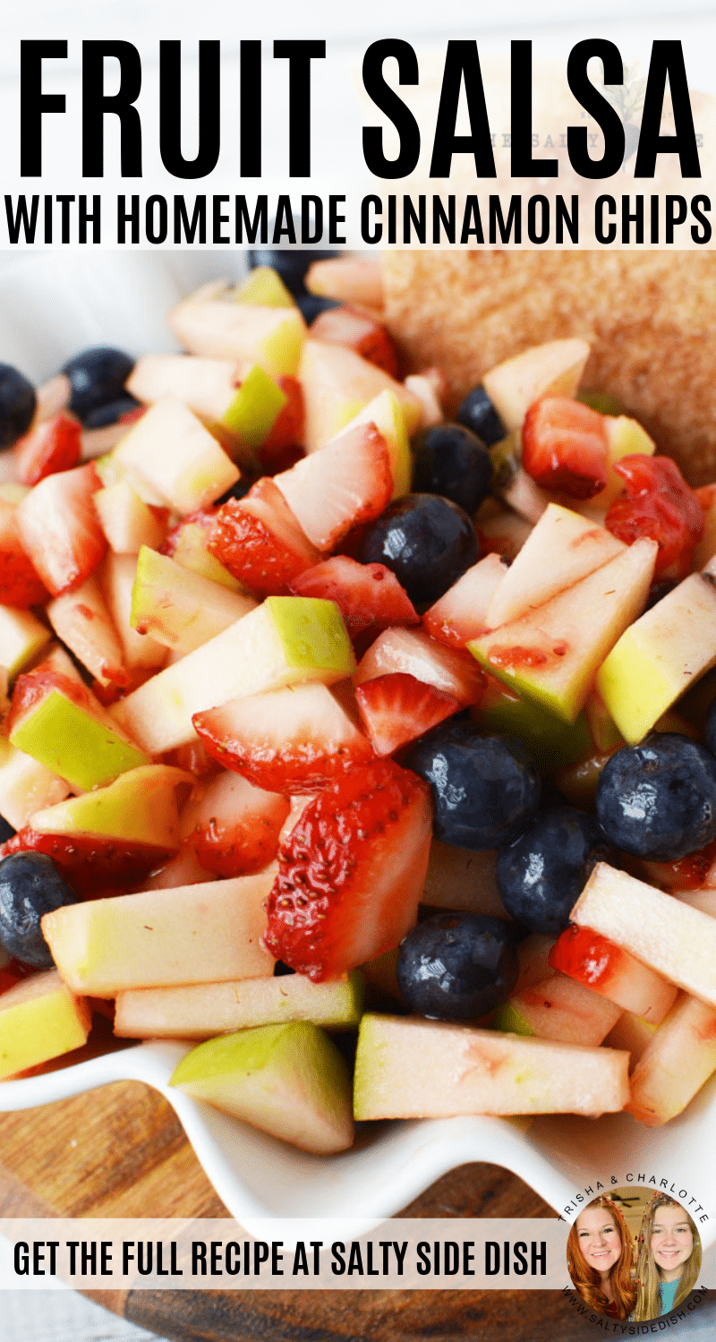 Fruit Salsa with Homemade Cinnamon Chips Recipe #salsa #appetizer