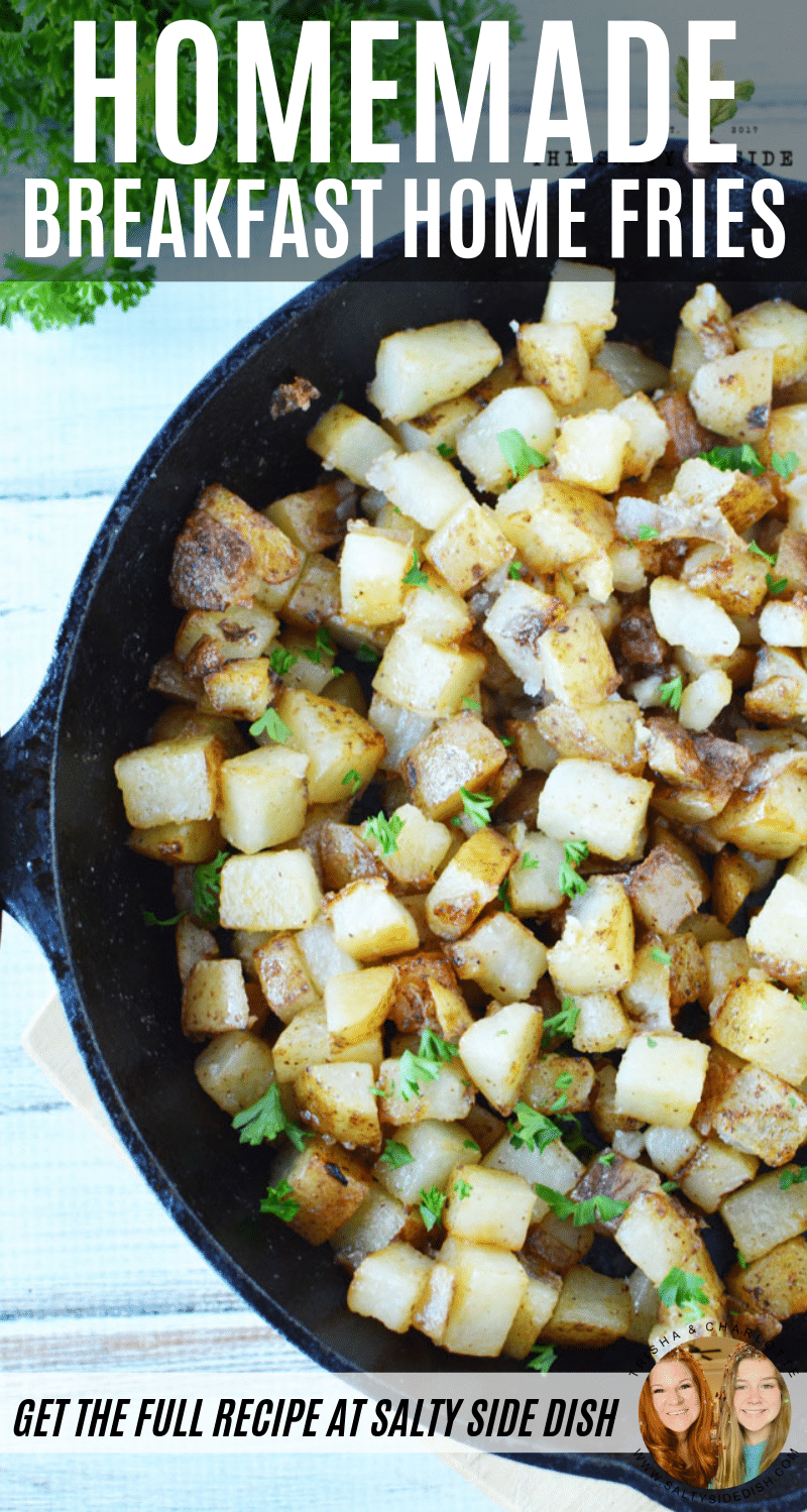 Fried Breakfast Potatoes | Easy Home Fries in Skillet #potatoes