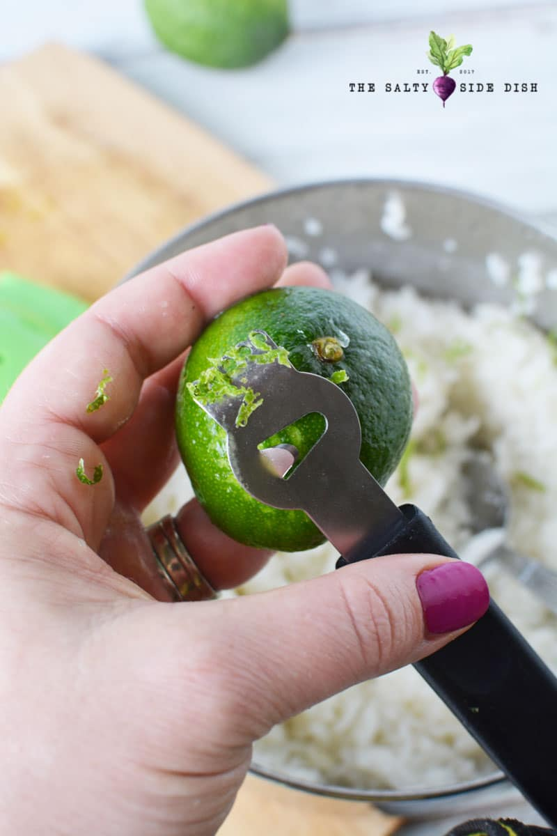 lime zest makes the perfect chipotle copycat recipe ingredient
