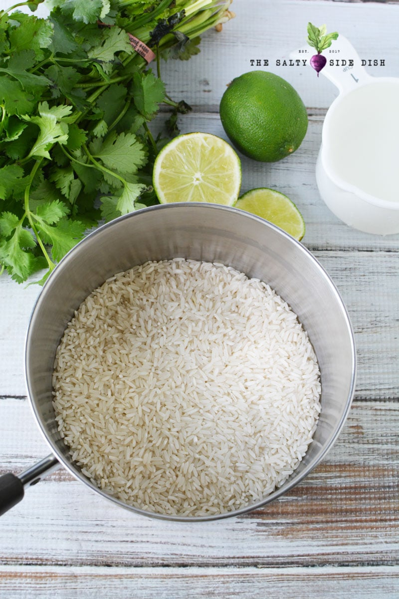 add rice to a sauce pan and ready to stove top make this rice