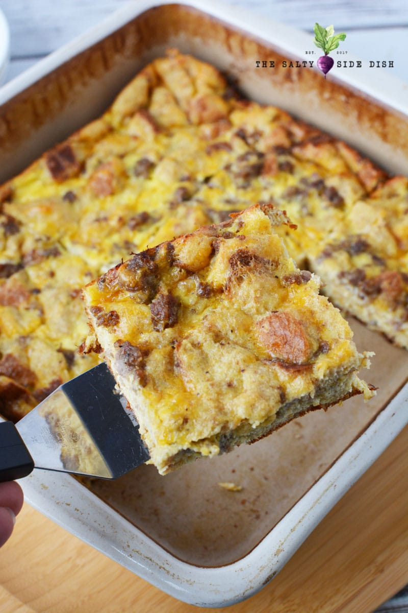Sausage and Egg Breakfast Casserole recipe ready to serve and perfect for holiday mornings that need protien