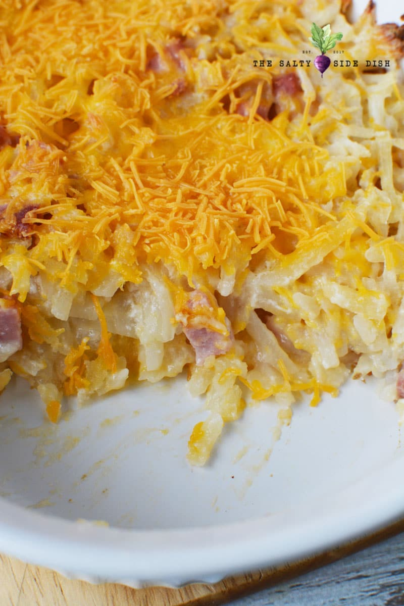 hashbrowns in a bowl with cheese