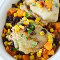 Slow Cooker Mexican Chicken Thighs