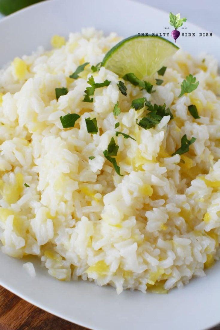 Hawaiian Rice with Crushed Pineapple