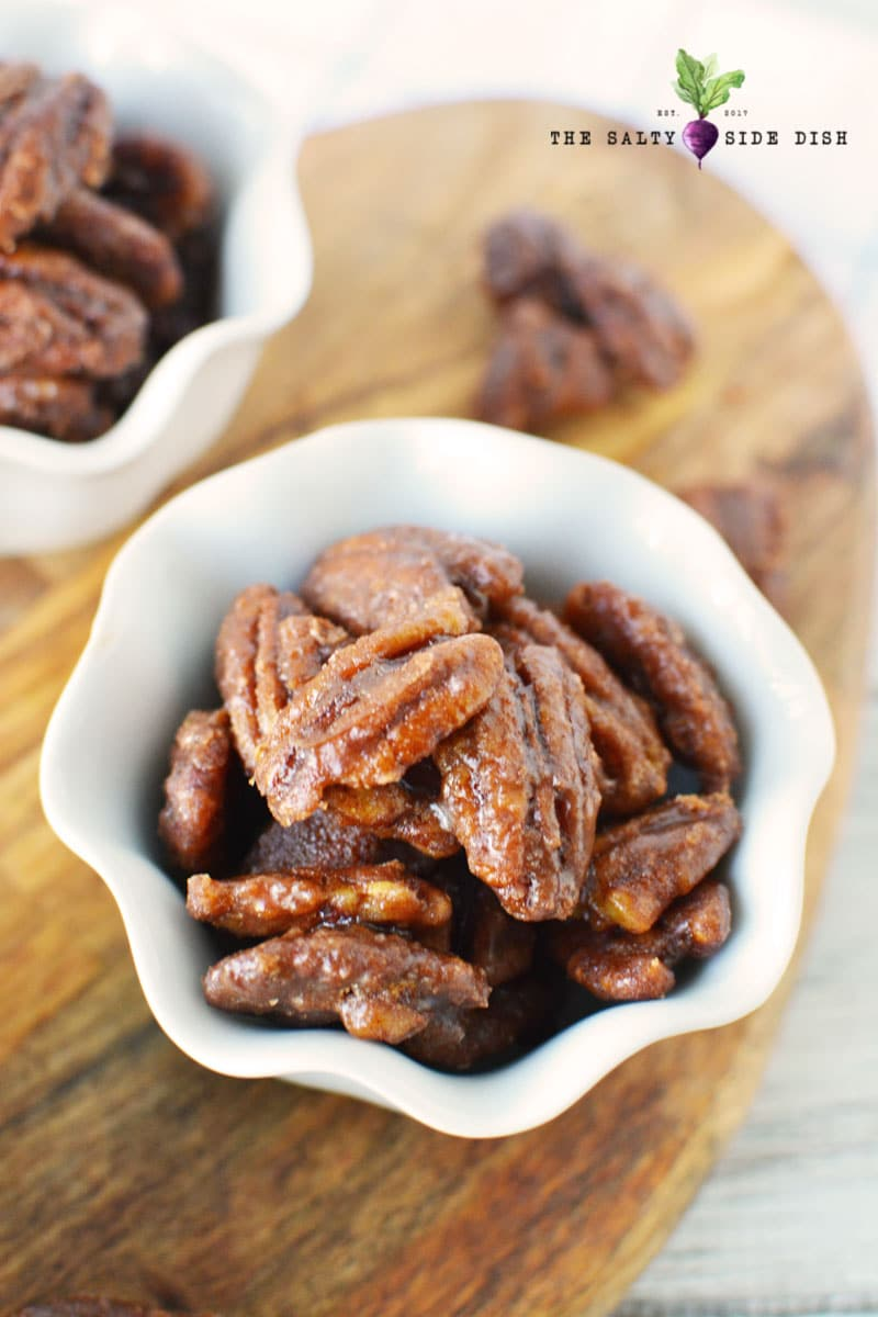 easy candied pecans with brown sugar and vanilla