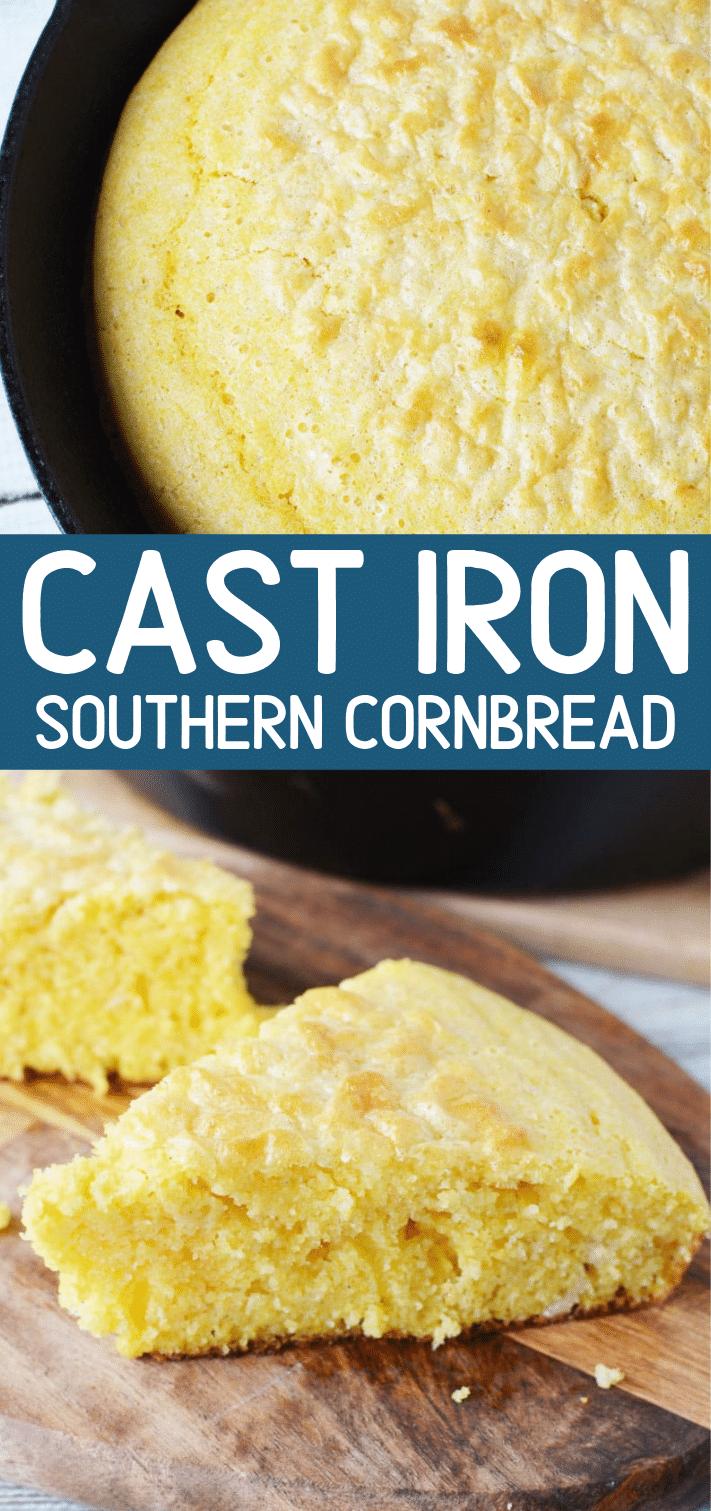 Southern Skillet Cornbread (Cast Iron Pan) Recipe