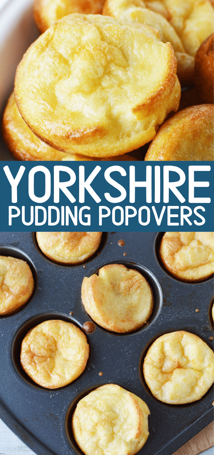 Yorkshire Pudding Recipe, Easy Traditional Popovers that are versatile for meat, veggies or even sweets. Filling and fun #yorkshirepudding #pudding #easy #english #recipes