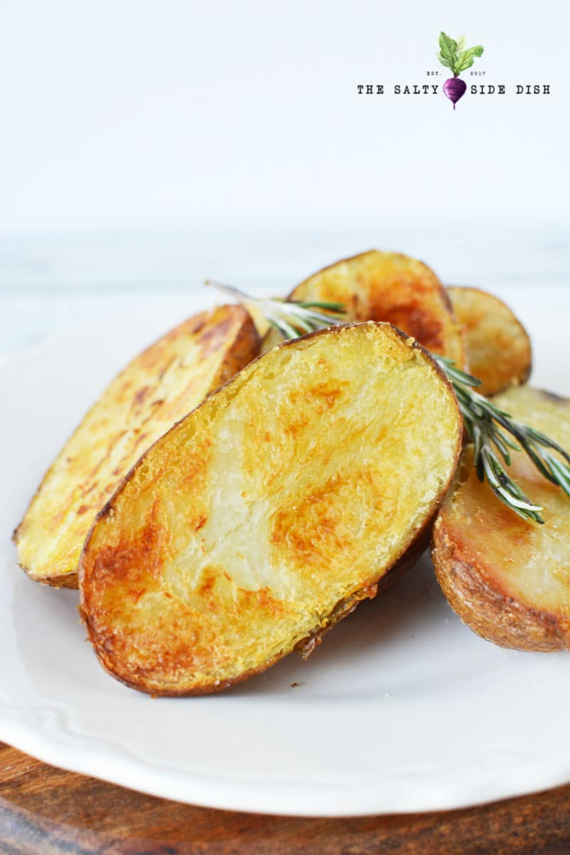 oven roasted melting potatoes with rosemary and garlic