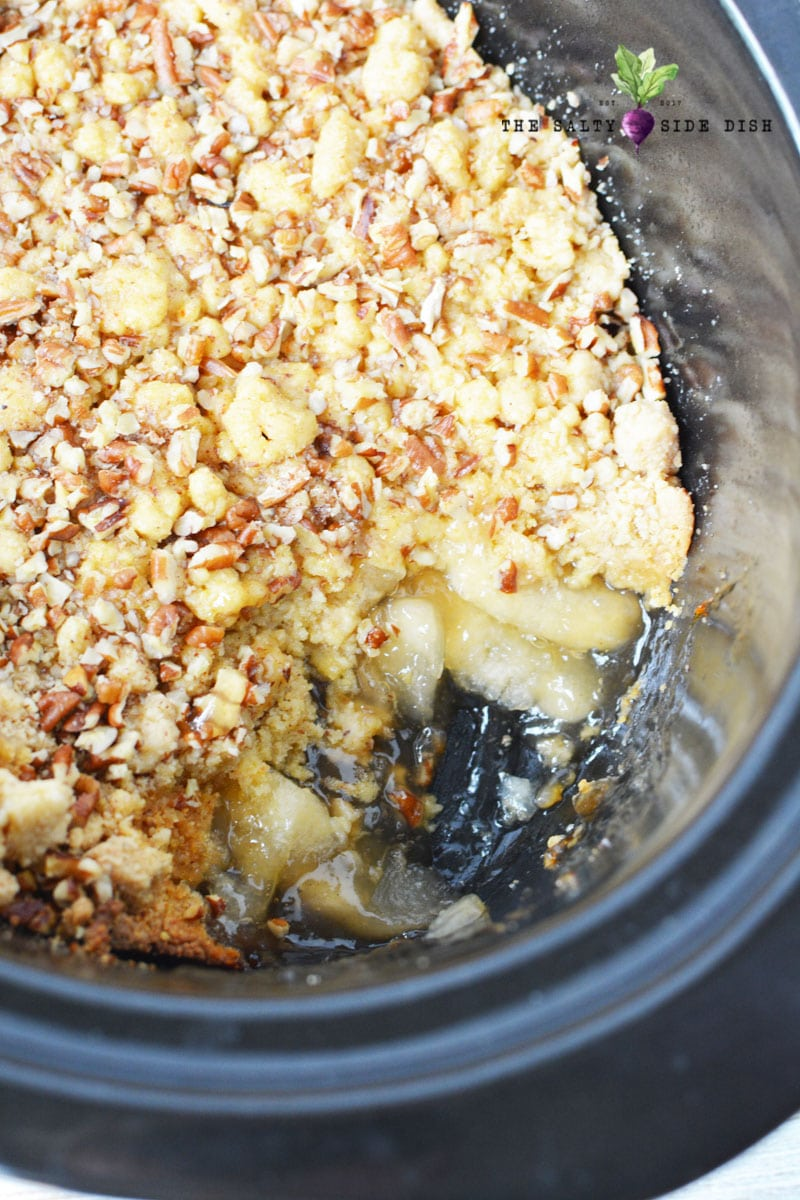 add pecans or walnuts to your apple pie dump cake