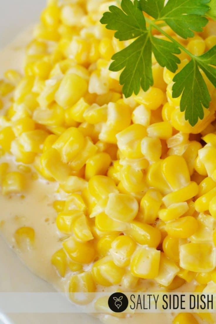 Crock Pot Cheesy Corn - No Velveeta Needed!