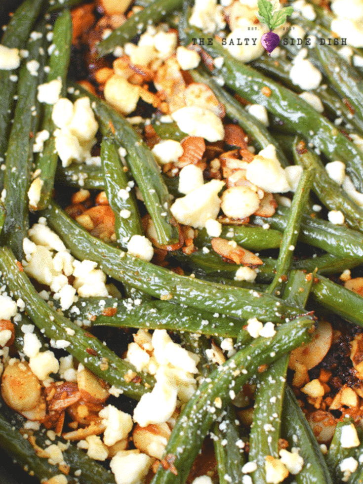 Green Beans Almondine with Garlic