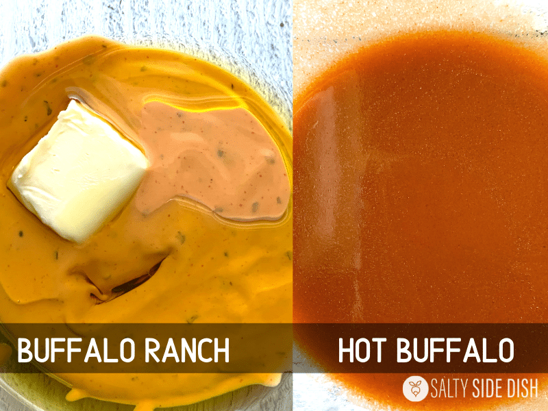 buffalo ranch sauce with butter and EVOO