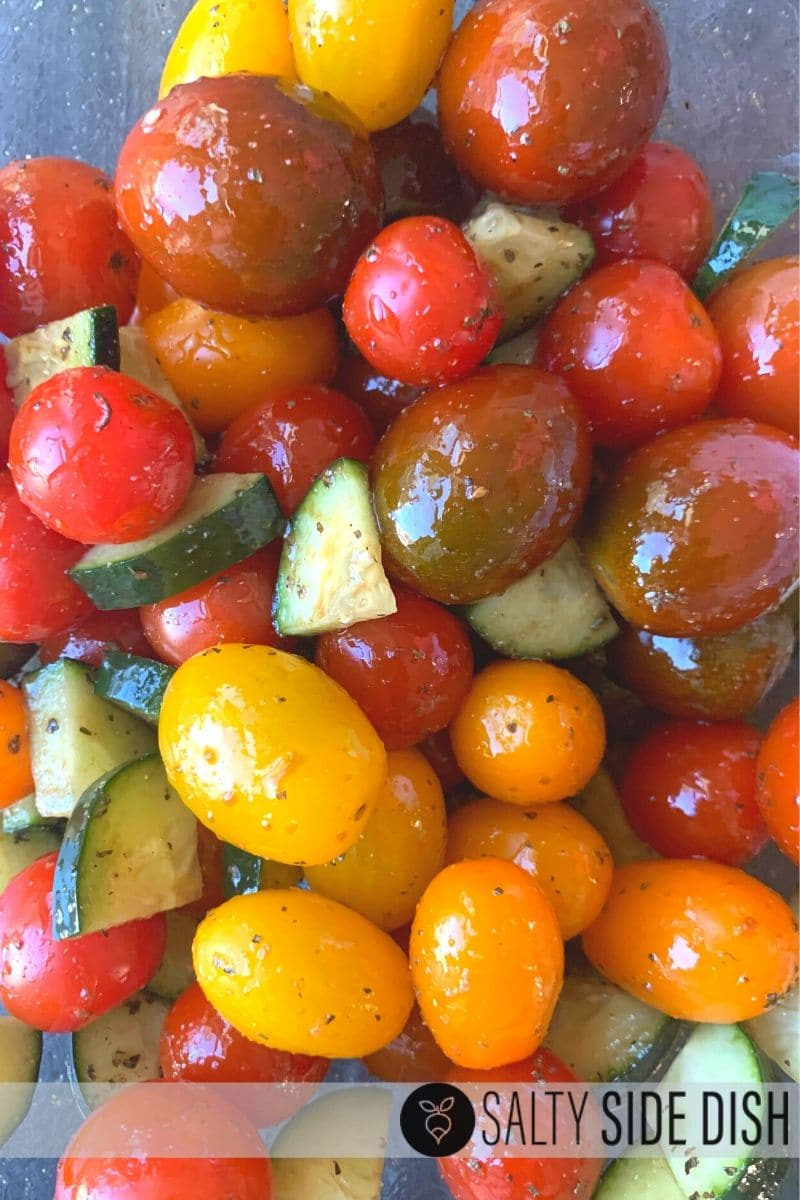 Cherry Tomato Salad with Cucumbers and balsamic vinegar recipe