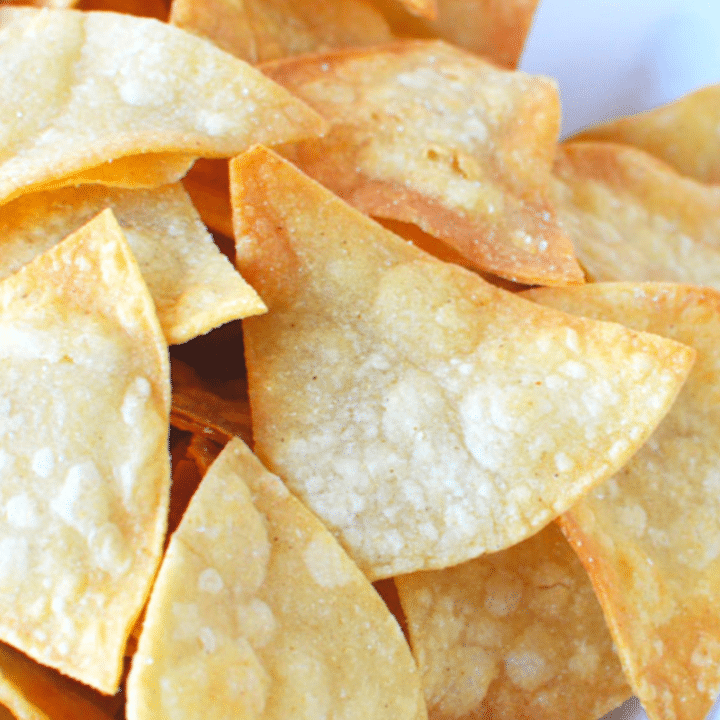 Homemade Corn Tortilla Chips From Corn Tortillas Salty Side Dish