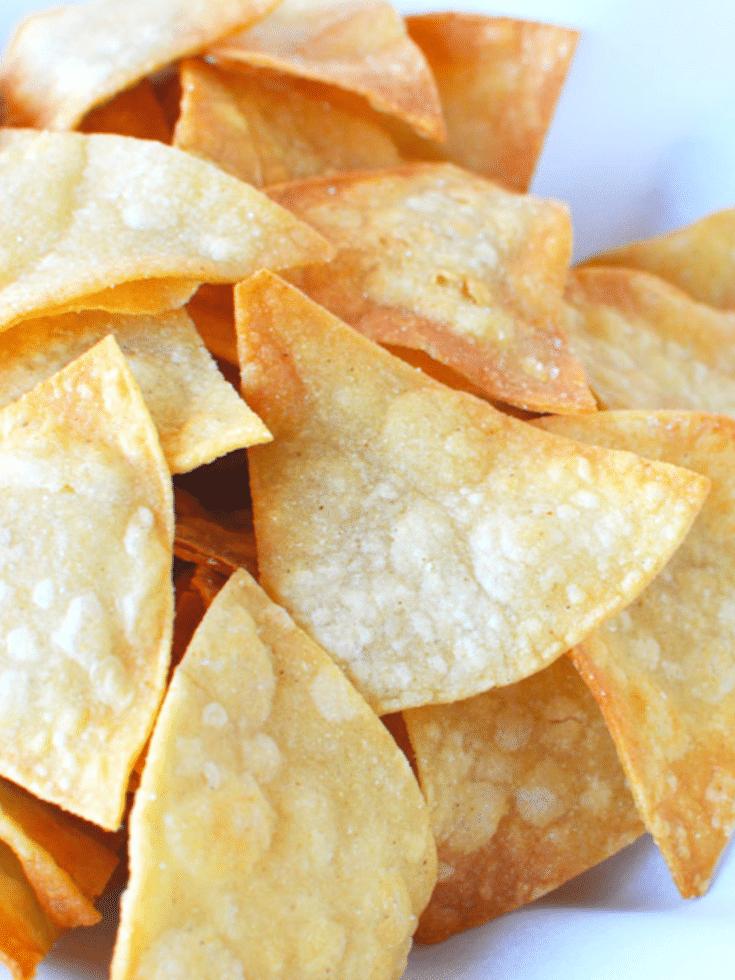 Homemade Tortilla Chips from Corn Tortillas