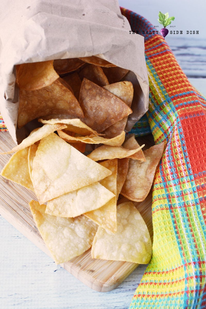 learn how to make tortilla chips from scratch with chips in a bag