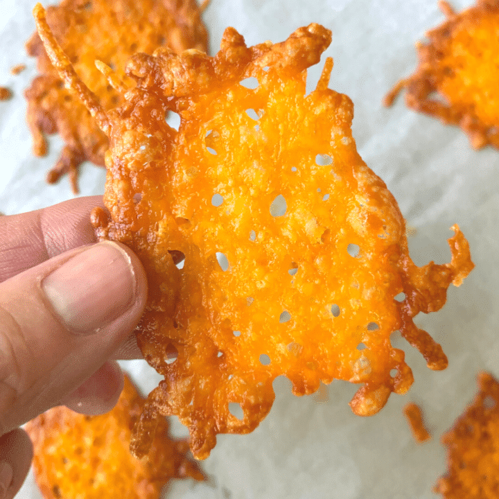 Keto Cheese Crisps in 5 Minutes