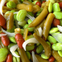 3 Bean Salad: Lima, Kidney and Green Beans