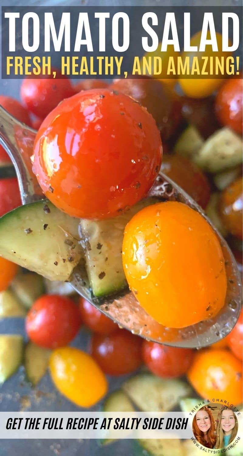tomato salad pinterest pin