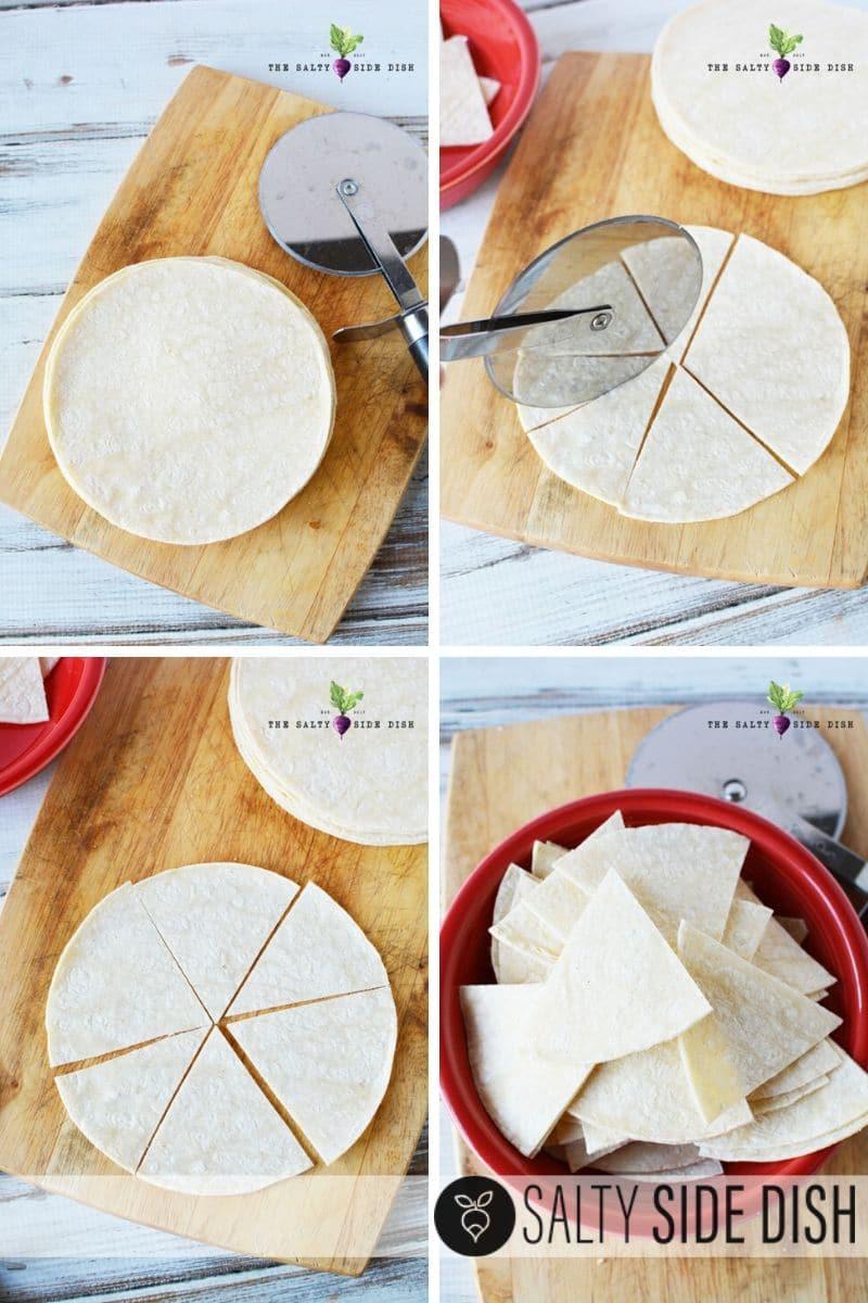 How to cut corn tortillas to make homemade tortilla chips